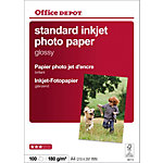 Papier photo standard brillant Brillant Blanc Office Depot A4 180 g