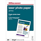 Papier photo brillant Brillant Blanc Office Depot A4 135 g