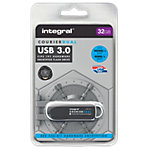 Clé USB cryptée Integral Courier Dual FIPS 32 Go Noir, Argenté