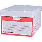Container pour boites archives Office Depot Blanc 51 x 35,3 x 25,3 cm   10 Unités