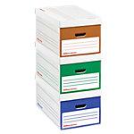 Boîtes d'archivage Office Depot 25,3 (H) x 51 (l) x 35,3 (P) cm 100% carton recyclé Assortiment   8 Unités