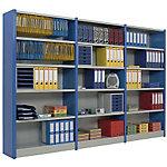 Elément départ + 5 Tablettes l.100 x p.38,3 x h.200 cm   montants bleus