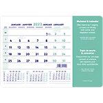 Tapis de souris calendrier Brepols Month 1 Mois par page 2021 Blanc