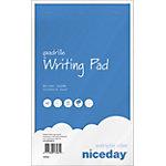 Bloc notes agrafé Niceday A5 Quadrillé Blanc 50 feuilles   5 unités