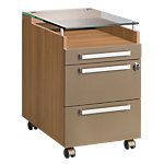 Caisson mobile Gautier Office Sliver 420 x 620 x 640 mm Imitation noyer, bronze