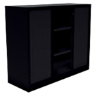 Armoire monobloc à portes rideaux Acier, polypropylène 1200 x 430 x 1000 mm Noir