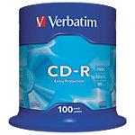 CD R enregistrable Verbatim 700 Mo 52x 100 Unités