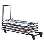 Chariot de transport Pour tables pliantes 800 x 1600 mm Noir