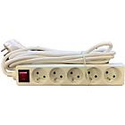 Bloc de multiprise avec interrupteur 5 ELAMI 5000 mm Blanc