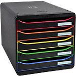 Module de classement Dauphin Big Box Plus Classic 5 27,1 (H) x 27,8 (l) x 34,7 (P) cm Noir Arlequin