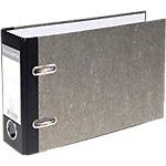 Classeur à levier Exacompta Marbre 70 mm Carton recouvert papier 2 anneaux A5 Gris