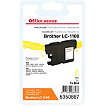 Cartouche jet d'encre Office Depot Compatible Brother LC1100Y Jaune