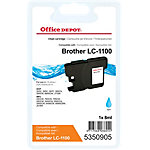 Cartouche jet d'encre Office Depot Compatible Brother LC1100C Cyan