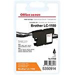 Cartouche jet d'encre Office Depot Compatible Brother LC1100BK Noir