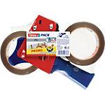 Ruban adhésif d'emballage et dérouleur 199mm (l) x 66m (L) tesapack Bleu, rouge   2 Unités