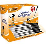 Stylo bille avec capuchon BIC Cristal Original 0.4 mm Noir   100 Unités