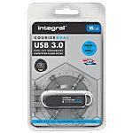 Clé USB cryptée Integral Courier Dual FIPS 16 Go Noir, Argenté