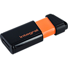 Clé USB Integral Pulse 32 Go Noir, Orange