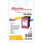 Cartouche jet d'encre Office Depot Compatible HP 301XL Cyan, Magenta, Jaune CH564EE