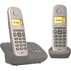 Téléphone Fixe Gigaset AL170A Duo Sans fil Avec répondeur Taupe