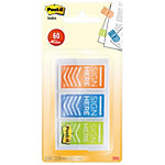 Index Post it Signez ici 43,2 (H)  x  23,8 (l) mm Vert, bleu, orange   200 Unités de 20 Bandes