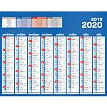 Calendrier Bouchut Grandrémy Bancaire 2019 26,5 (H) x 21 (l) cm Bleu