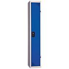 Vestiaire Industrie Propre 1 colonne   Elément suivant 300 x 500 x 1800 mm Bleu