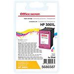 Cartouche jet d'encre Office Depot Compatible HP 300XL Cyan, Magenta, Jaune CC644EE