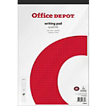 Bloc notes Office Depot A4+ Adhésif Blanc Papier Quadrillé 160