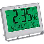 Horloge radio pilotée Alba 15 (H) x 20 (l) x 3 (P) cm Blanc