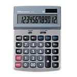 Calculatrice de bureau Office Depot AT 814 12 Chiffres Gris argenté