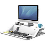 Station de travail assis debout Fellowes Lotus 13,97 (H) x 83,19 (l) cm Blanc