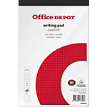 Bloc notes Office Depot A5+ Adhésif Blanc Papier Quadrillé 100