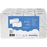 Rouleaux de papier toilette Niceday 2 épaisseurs   24 Rouleaux de 200 Feuilles