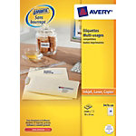 Étiquettes multifonctions Avery 3474 Blanc 37 x 70 mm 100 Feuilles de 24 Étiquettes