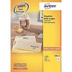 Étiquettes multifonctions Avery Blanc 37 x 105 mm 100 Feuilles de 16 Étiquettes