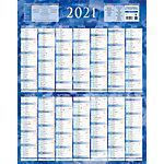 Calendrier Bouchut Grandrémy Annuel 2019 1 An par page 43 (H) x 55 (l) cm Bleu ou rouge