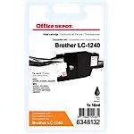 Cartouche jet d'encre Office Depot Compatible Brother LC1240BK Noir