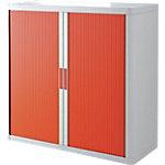Armoire basse à rideaux Paperflow easyOffice 1100 x 415 x 1040 mm Blanc, rouge