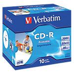 CD R enregistrable Verbatim 700 Mo 52x 10 Unités