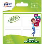 Étiquettes Avery Permanentes Blanc 100 étiquettes