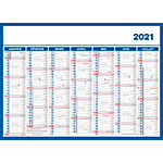 Calendrier Direct Mini 7 mois recto verso 2021 Bleu
