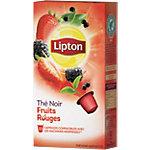 Capsules de thé noir Fruits rouges Lipton   10 Unités