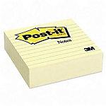 Notes adhésives lignées Post it 100 x 100 mm Jaune   300 Feuilles