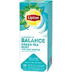 Sachets de thé vert Menthe Lipton 25 Unités de 1.5 g
