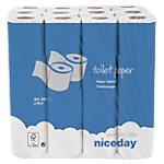 Papier toilette Niceday Standard 2 épaisseurs   48 Unités de 200 Feuilles