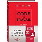 Code du travail Dalloz 2014 190 (H)  x  135 (l) mm Rouge