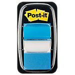 Index   marques pages Post it Standard 43,2 (H) x 25,4 (l) mm Bleu   50 Bandes