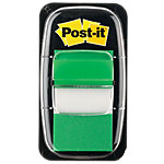 Index   marques pages Post it Standard 43,2 (H) x 25,4 (l) mm Vert   50 Bandes