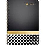 Cahier à spirale Foray Elements A4 Ligné 160 pages   Noir, doré